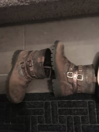 Pair of brown leather boots Edmonton, T5Y 0M6