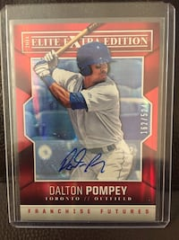 Toronto Blue Jays Dalton Pompey autographed rookie card numbered 162/524 rare card  Hamilton, L8M 2B5