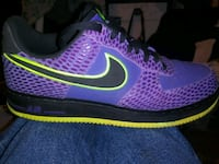 unpaired blue and green Nike running shoe Portland, 97216