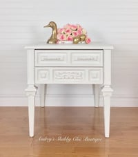 Elegant White Bedside or End Table Richmond Hill