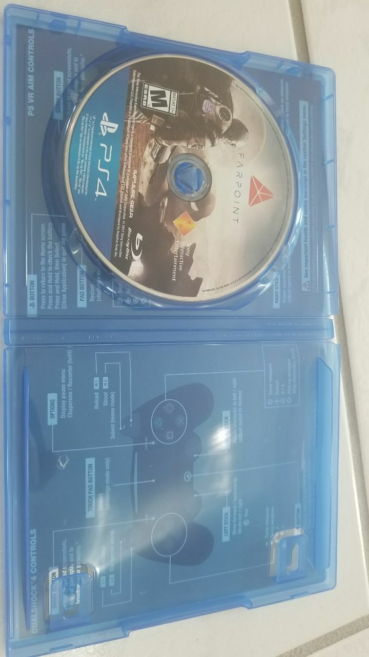 Farpoint Sony PS4 game disc and case
