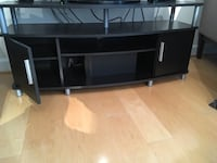 Espresso TV stand with Metal Accents Vienna, 22182