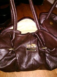 brown leather Coach shoulder bag Indianapolis, 46218