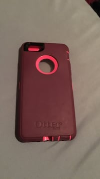 maroon and pink Otter Box iPhone 6/6s case