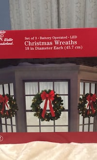 Set of 3 Christmas Wreaths