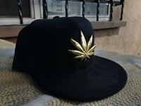 Black marijuana weed leaf snap back gold Los Angeles, 90016