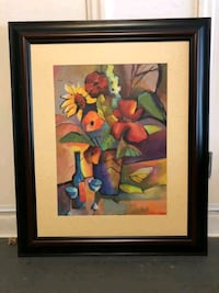 Abstract Floral Art Framed