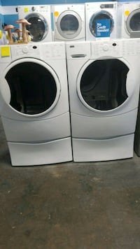 white front-load washer and dryer set Lynwood, 90262
