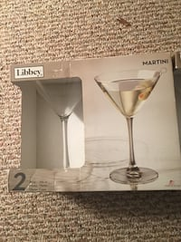 2 boxes of a total of 4, 10 oz. libbey martini glasses Wilmington, 19805