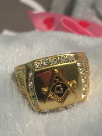 Masonic Stainless Steel Men's Ring Size 8-13