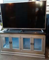 Amazing solid wood TV stand with LED lights