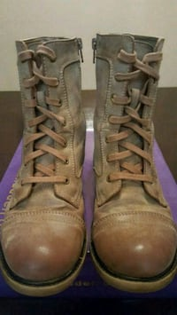 pair of brown leather high-top boots Anaheim, 92801