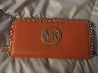 Burnt orange  michael kors leather wallet  Brantford, N3P 1C8
