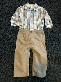 Baby Boy Shirt and Tie Outfit