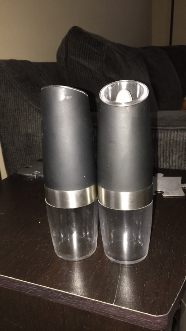 two gray and clear plastic case