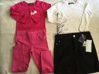 2 girls set . 2 MEXX shirts . Skirt new & pants. 4 -5 years Montreal, H4N