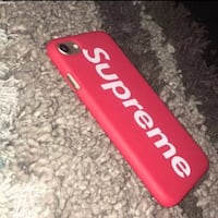 red and black Supreme iPhone case Plano, 75094