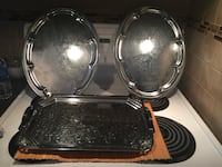 One rectangular Italy silver plate tray and 2 oval trays Hamilton, L8P 4L5
