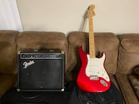 Fender Electric guitar,with Fender amp