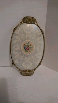 Vintage Regents of London  petipoint  tray