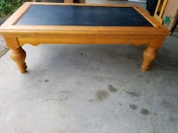 rectangular brown and blue wooden coffee table Winter Springs, 32708