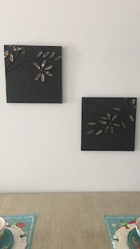 two black-and-brown metal leaf wall decors Augusta, 30909