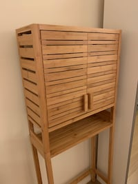 Bamboo Over The Toilet Space Saver with Two Doors Nova Iorque, 10024
