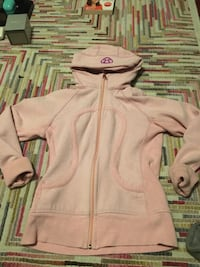 Lulu lemon White and pink zip-up hoodie 3158 km