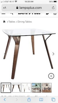 WALNUT DINING TABLE WITH CHAIRS