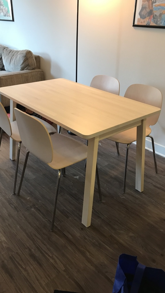 letgo ikea table and 4 chairs in san diego ca. Black Bedroom Furniture Sets. Home Design Ideas