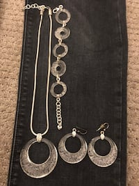 Brighton Lucite Sterling Silver Necklace, Bracelet and Earrings Chicago, 60642