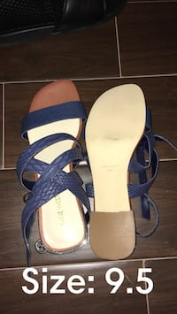 pair of blue-and-white sandals Wesley Chapel, 33543