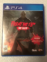 PS4 Friday the 13th the game like new Albany, 12208
