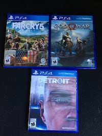 "PS4 games God of war ps4 Detroit become human ""farcry 5 Burnaby, V5J 1Y2"