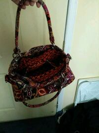 red and black floral hobo bag Manassas