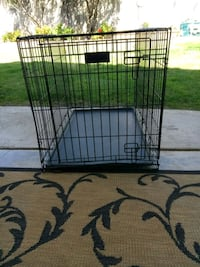 black metal folding dog crate Citrus Heights, 95610