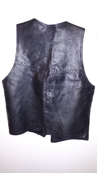 women's black leather sleeveless dress EDMONTON