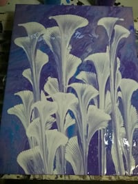 white and blue floral painting Edmonton, T5T 2N8