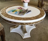 Gorgeous vintage hand carved Rococo/ Baroque style  table  Sandy, 84092