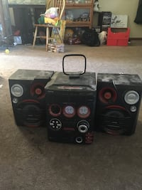 black and gray home theater system 1078 mi