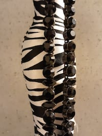 Black Crystal Choker Necklace. Fort Myers