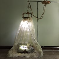 Antique Ciel de Lit ~ Sky of Bed ~ Light Fixture from Holland  King, L0G