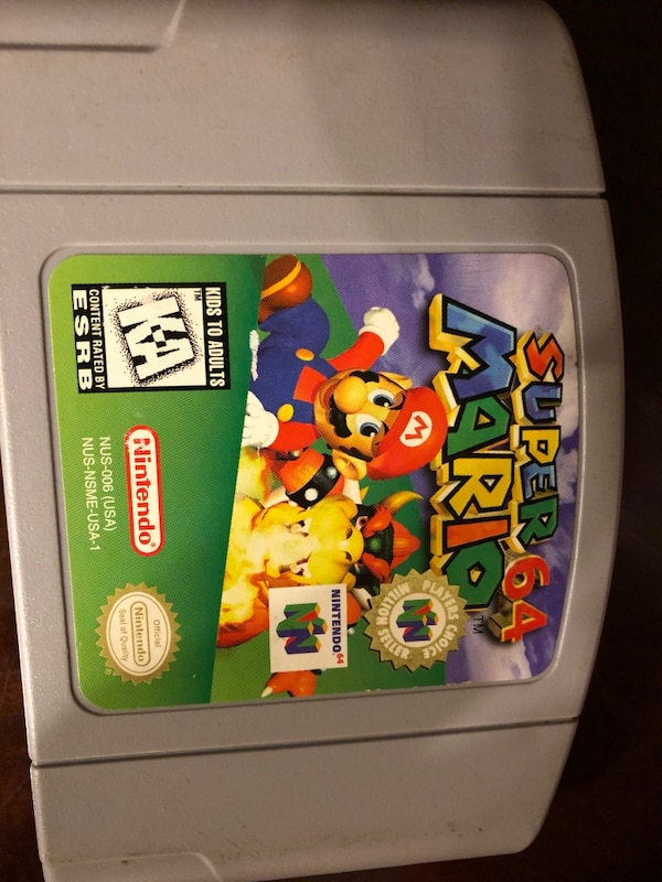 Nintendo 64 Mario Kart game cartridge