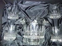 Crystal ice bucket and four whiskey glasses Edmonton, T5P 2R3