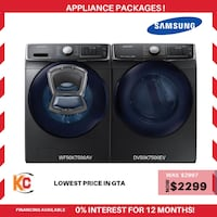 Brand new samsung  washer and dryer is now at sale at vry lowest price in gta  Brampton