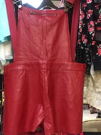 red leather overalls Miami, 33167