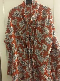 Free People floral peplum blouse, size large Somerville, 02143