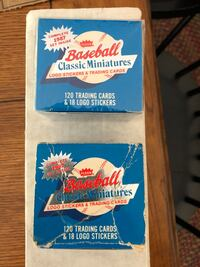 Two sets of 1987 fleer baseball card miniatures 120 cards in each set   Northport, 11768