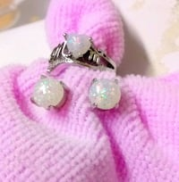 """Mom"" Opal Ring/Earrings Frederick, 21701"