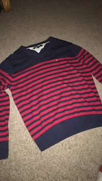 black and red striped long-sleeved shirt Winnipeg, R2M 1A2